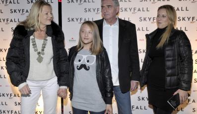 Grażyna Szapołowska z partnerem oraz córką Katarzyna Jugowską i wnuczką
