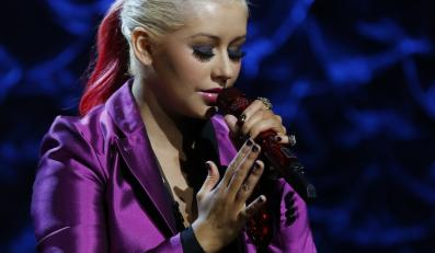 "Christina Aguilera podczas koncertu dla ofiar huraganu ""Sandy"""