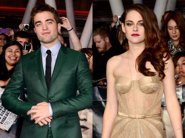"""Kristen Stewart i Robert Pattinson na premierze filmu """"Saga Zmierzch: Przed świtem. Część 2"""""""