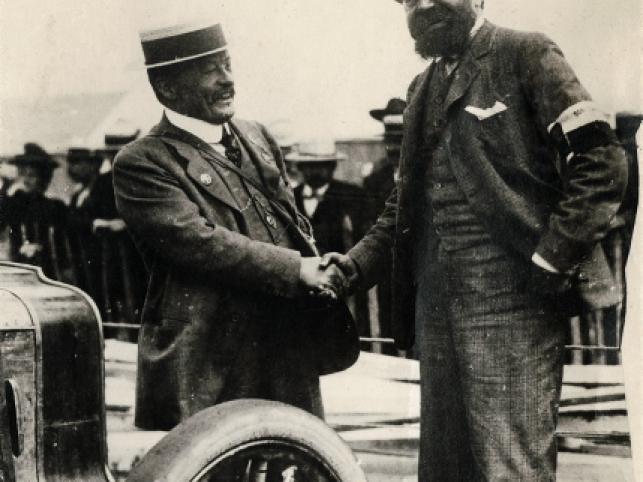 Andre Michelin i Charles-Henri Brasier podczas wyscigu Gordona Bennetta
