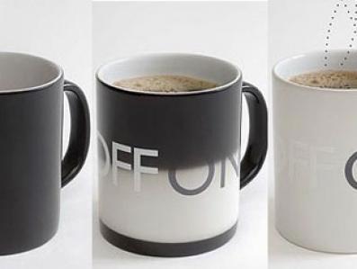 Kubek ON/OFF uratuje język przed gorącą kawą/herbatą