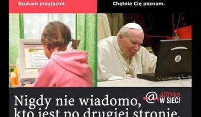 Kadr ze zmanipulowanego filmu zamieszczonego a stronie kidprotect.tv