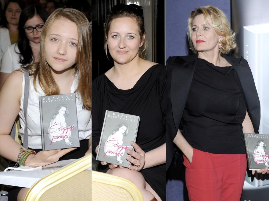 Grażyna Szapołowska, jej córka Katarzyna Jungowska i wnuczka Karolina