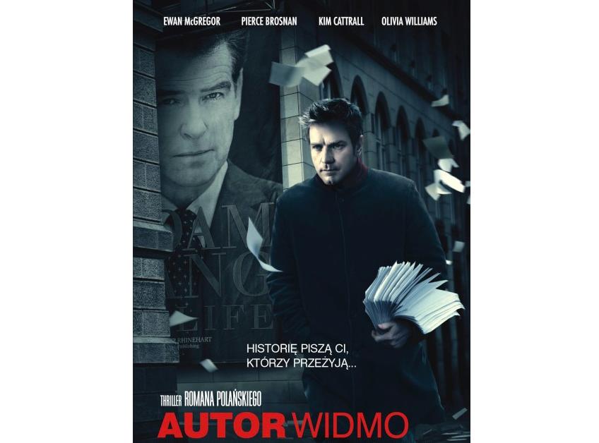 """Plakat filmu """"Autor widmo"""" Romana Polańskiego"""