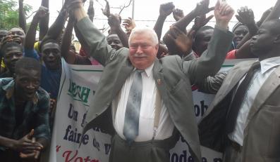 Lech Wałęsa w Togo