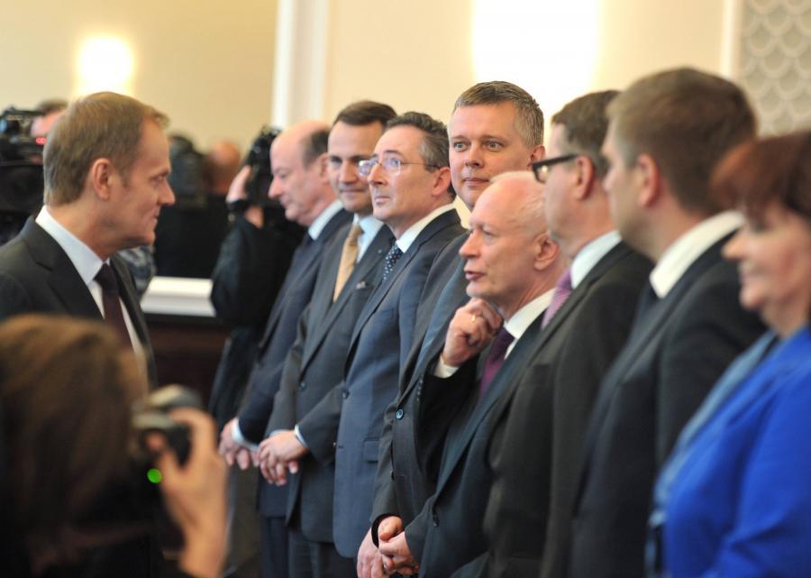 Rada Ministrów - Donald Tusk i Michał Boni