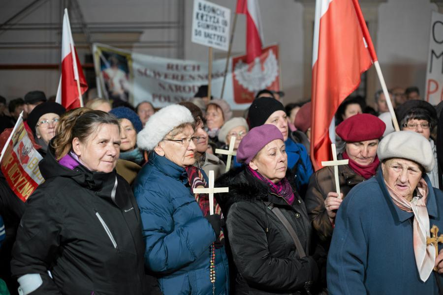 Protest przed Centrum Sztuki Współczesnej