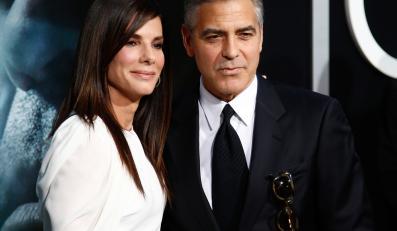 "Sandra Bullock i George Clooney na premierze ""Grawitacji"""