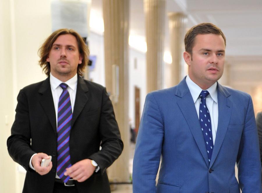 Tomasz Kaczmarek i Adam Hofman