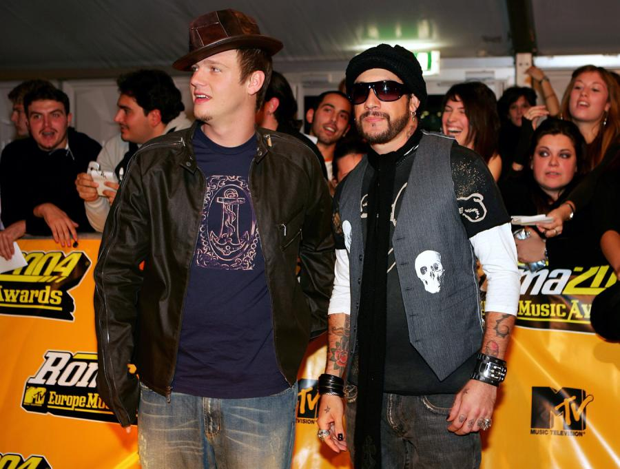 A.J.McLean i Nick Carter na gali MTV Music Awards 2004