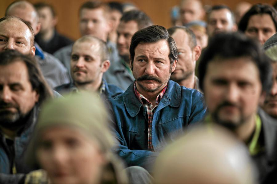 Robert Więckiewicz na planie filmu \