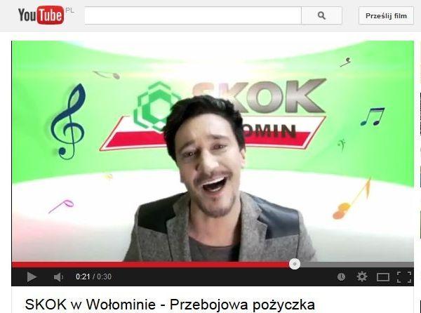 Michał Wiśniewski w reklamie SKOKu