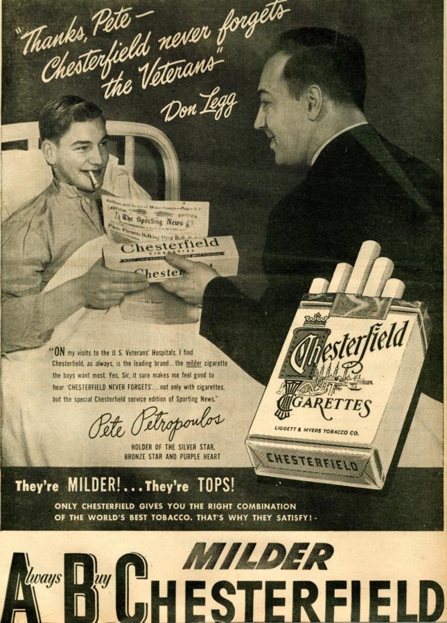 "Papierosy ""Chesterfield"", rok 1947"