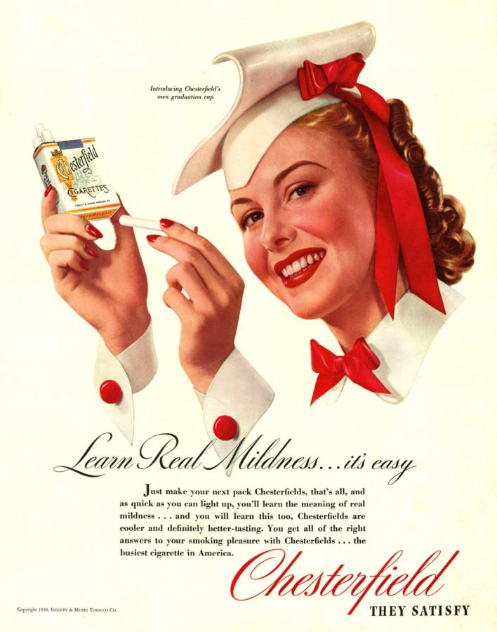 "Papierosy ""Chesterfield"", rok 1940"