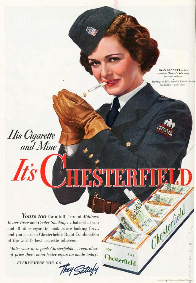 "Papierosy ""Chesterfield"" rok 1942"