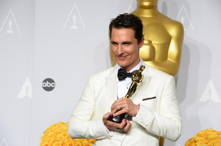 Matthew McConaughey z Oscarem za najlepszą rolęmęską