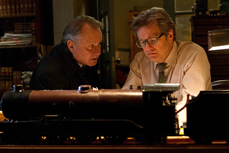 "Stellan Skarsgard i Colin Firth w filmie ""Droga do zapomnienia"""