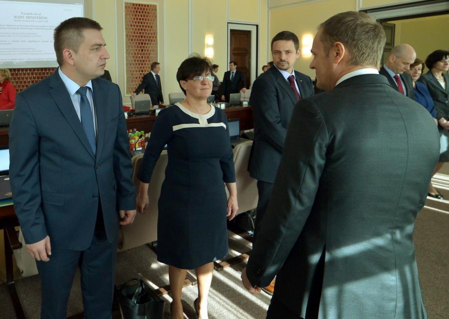 Posiedzenie rządu - Bartosz Arłukowicz i Donald Tusk
