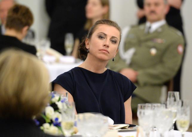 Zjawiskowo piękna Justyna Kowalczyk na obiedzie w Pałacu Prezydenckim