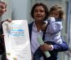Orlando Bloom odsłaniał gwiazdę z synem