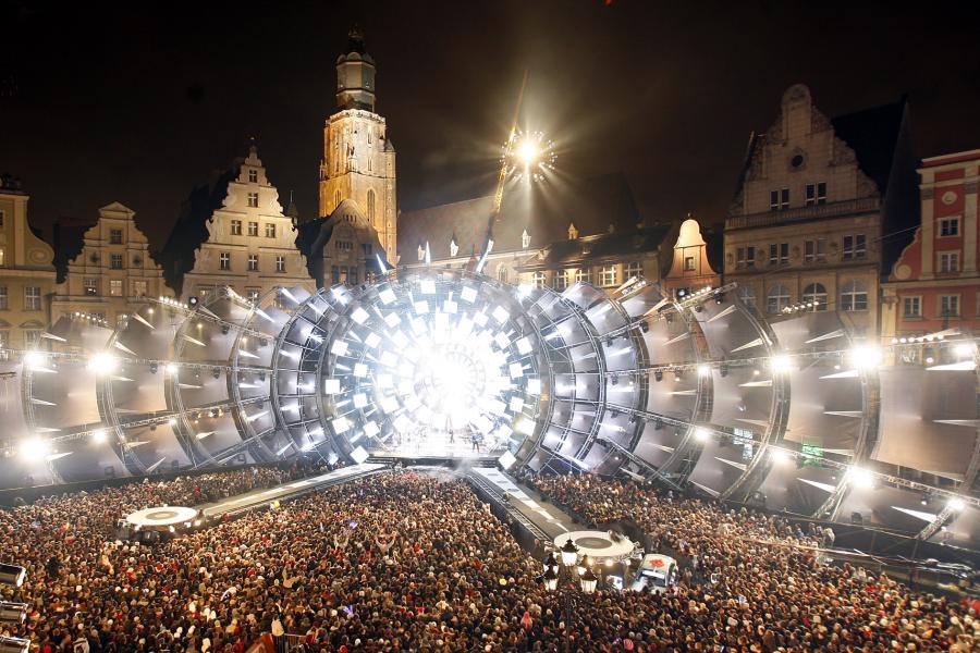 Koncert sylwestrowy na wrocławskim rynku