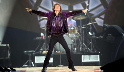 Mick Jagger i The Rolling Stones podczas koncertu w Tel-Awiwie