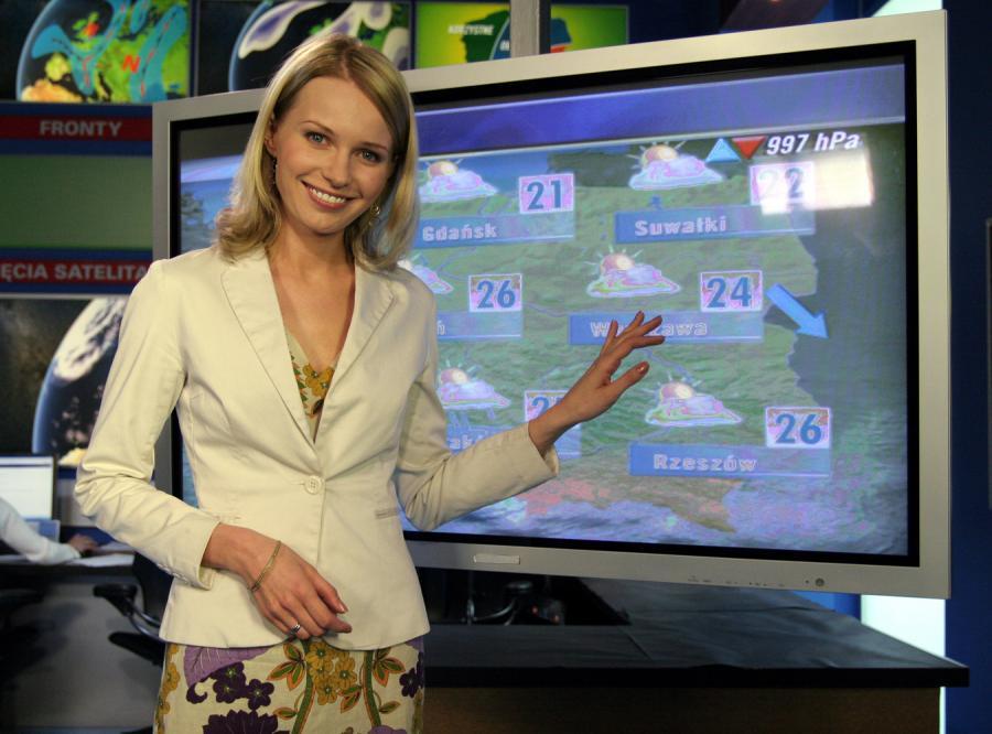 Prognoza pogody w wydaniu Agnieszki Cegielskiej to nie nudne przedstawienie pogodowych faktów, ale prawdziwy spektakl