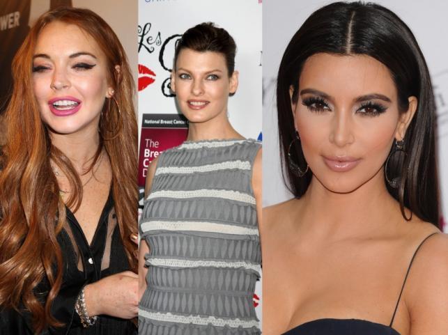 Lindsay Lohan, Linda Evangelista i Kim Kardashian