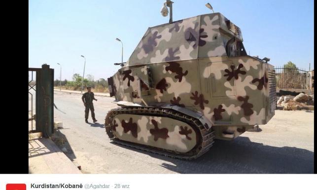 Kurdowie walczą z ISIS czołgami domowej roboty