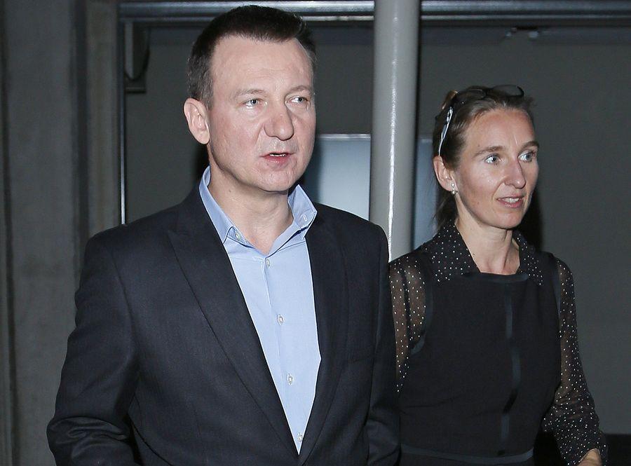 Robert Więckiewicz z żoną