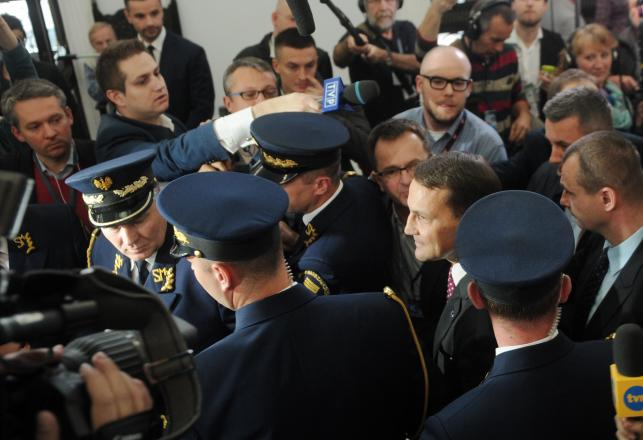 Konferencja marszałka Sejmu Radosława Sikorskiego