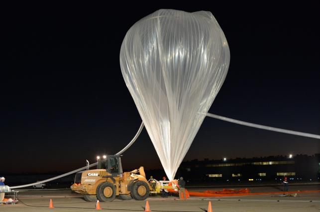 Wypełniony helem balon