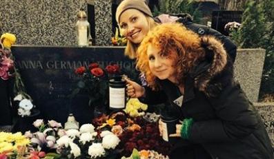 Joanna Moro na cmentarzu