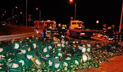 Autostrada utonęła w piwie
