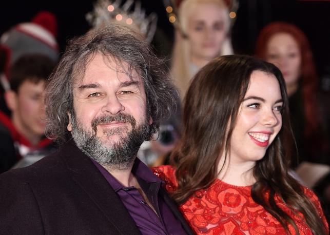 Peter Jackson z córką Katie na premierze w Londynie