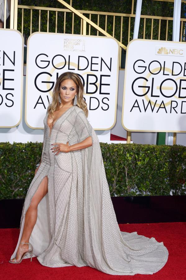 Jennifer Lopez na gali Złotych Globów 2015