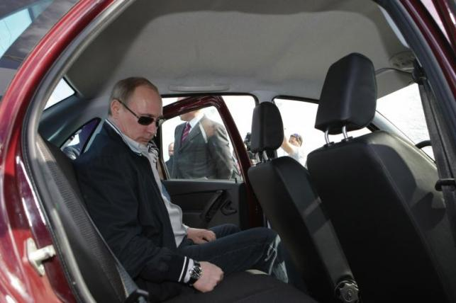 Łada granta i Władimir Putin