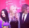 Courtney Love i Frances Bean Cobain oraz reżyser filmu Brett Morgen