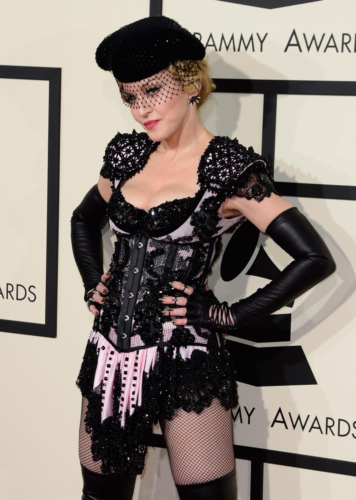 Najbardziej rozebrane gwiazdy na gali Grammy 2015: Madonna