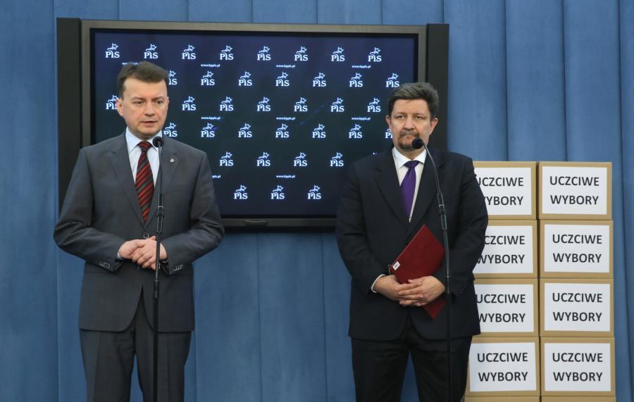 Mariusz Błaszczak i poseł Grzegorz Schreiber