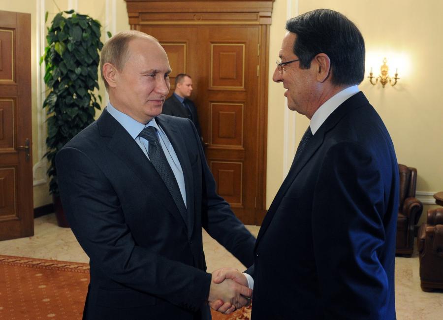 Władimir Putin i prezydent Cypru, Nikos Anastasiades