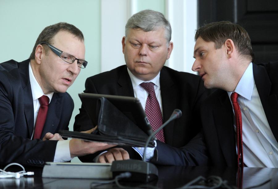 Jacek Kurski, Marek Suski i Bartosz Kownacki