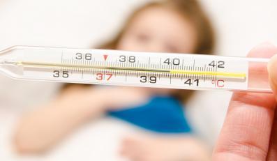 Termometr wskazuje gorączkę