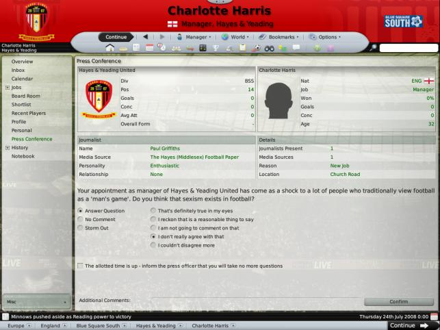 Football Manager, PC