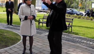 Ewa Kopacz i Andrzej Grabowski