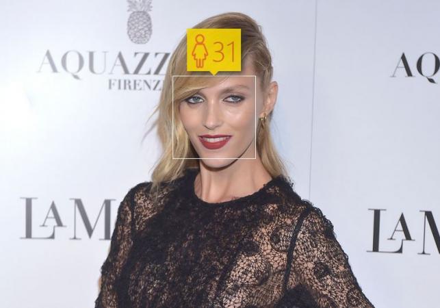 Anja Rubik i jej wiek według How-Old.net