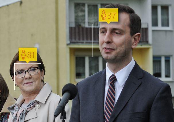 Ewa Kopacz i Władysław Kosiniak-Kamysz oraz ich wiek według How-Old.net
