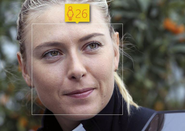 Maria Szarapowa i jej wiek według How-Old.net