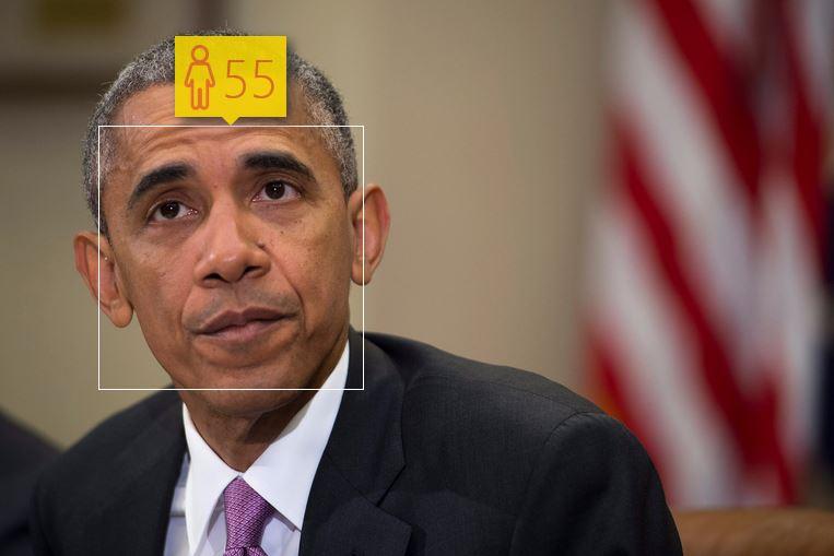 Barack Obama i jego wiek według How-Old.net
