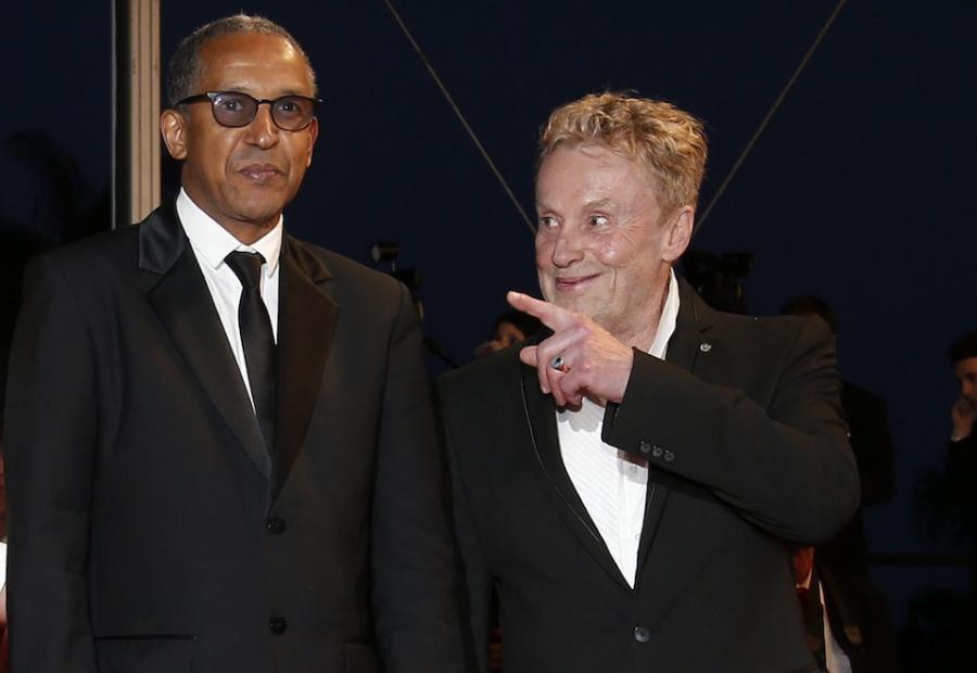 Mauretański reżyser Abderrahmane Sissako i Daniel Olbrychski